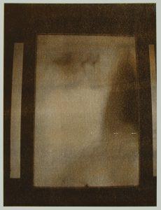 Davina Kirkpatrick Presence of absence I. Sepia duo-tone screenprint
