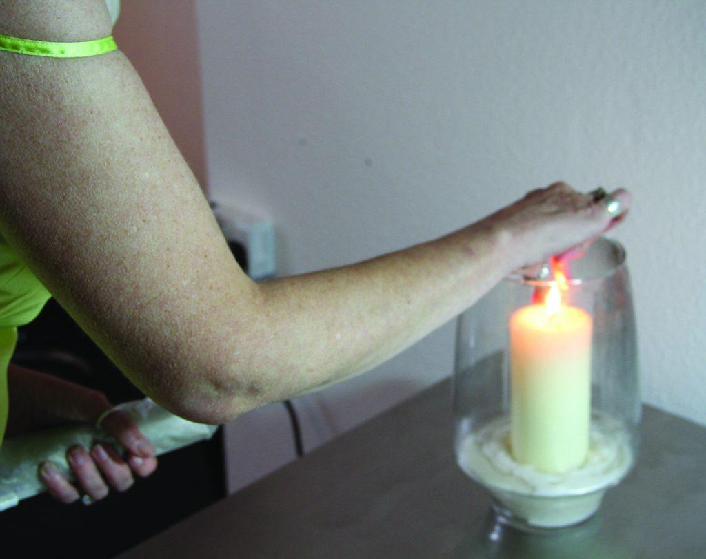 Davina Kirkpatrick being tattooed by Radu Rusu, Truro Cornwall